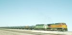 BNSF 4782 and BN 9209 pulling a tank train 